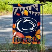 Penn State Nittany Lions Fall Football Autumn Leaves Decorative Garden Flag