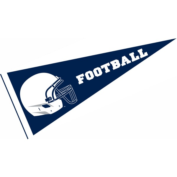 Penn State Nittany Lions Helmet Pennant consists of our full size sports pennant which measures 12x30 inches, is constructed of felt, is single sided imprinted, and offers a pennant sleeve for insertion of a pennant stick, if desired. This Penn State Nittany Lions Pennant Decorations is Officially Licensed by the selected university and the NCAA.