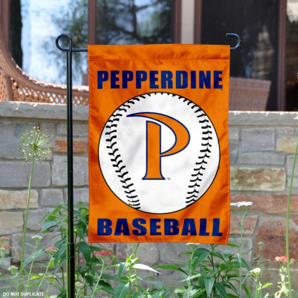 Pepperdine Waves Baseball Team Garden Flag is 13x18 inches in size, is made of 2-layer polyester, screen printed Pepperdine University Baseball athletic logos and lettering. Available with Express Shipping, Our Pepperdine Waves Baseball Team Garden Flag is officially licensed and approved by Pepperdine University Baseball and the NCAA.