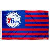 Philadelphia 76ers Americana Stripes Nation Flag