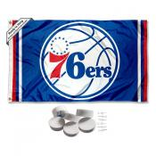 Philadelphia 76ers Banner Flag with Tack Wall Pads