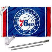 Philadelphia 76ers Flag Pole and Bracket Kit