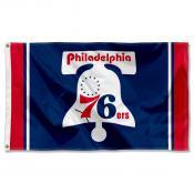 Philadelphia 76ers Hardwood Vintage Retro Throwback Logo 3x5 Flag