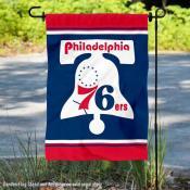 Philadelphia 76ers Retro Hardwood Classics Double Sided Garden Flag