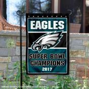 Philadelphia Eagles 2017 Super Bowl Champs Garden Flag