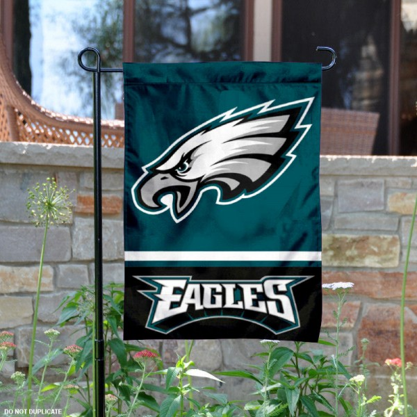 Philadelphia Eagles Garden Flag is 12.5x18 inches in size, is made of 2-ply polyester, and has two sided screen printed logos and lettering. Available with Express Next Day Ship, our Philadelphia Eagles Garden Flag is NFL Officially Licensed and is double sided.