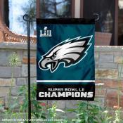 Philadelphia Eagles Super Bowl LII Champions Double Sided Garden Flag