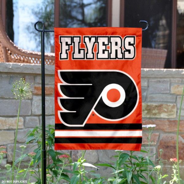 Philadelphia Flyers Garden Flag is 12.5x18 inches in size, is made of 2-ply polyester, and has two sided screen printed logos and lettering. Available with Express Next Day Ship, our Philadelphia Flyers Garden Flag is NHL Officially Licensed and is double sided.