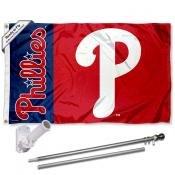 Philadelphia Phillies Flag Pole and Bracket Kit