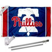 Philadelphia Phillies Liberty Bell Flag Pole and Bracket Kit