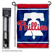 Philadelphia Phillies Liberty Bell Garden Flag and Stand