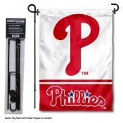 Philadelphia Phillies Logo Garden Flag and Stand