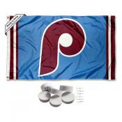 Philadelphia Phillies Retro Vintage Banner Flag with Tack Wall Pads