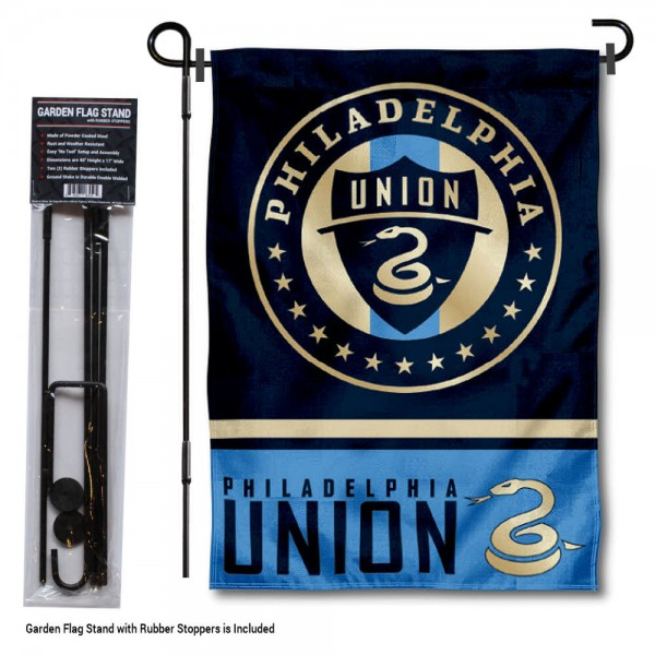 Philadelphia Union Garden Flag and Flagpole Stand
