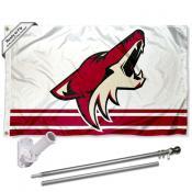Phoenix Coyotes Flag Pole and Bracket Kit