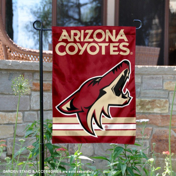 Phoenix Coyotes Garden Flag is 12.5x18 inches in size, is made of 2-ply polyester, and has two sided screen printed logos and lettering. Available with Express Next Day Ship, our Phoenix Coyotes Garden Flag is NHL Officially Licensed and is double sided.