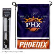Phoenix Suns Garden Flag and Flagpole Stand