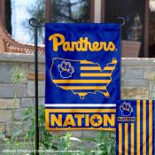Pitt Panthers Garden Flag with USA Country Stars and Stripes