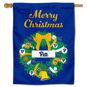 Pitt Panthers Happy Holidays Banner Flag