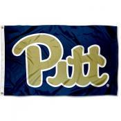 Pitt Panthers New Logo Blue Flag