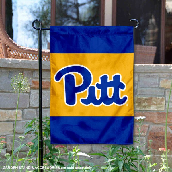 Pitt Panthers Royal Blue Garden Flag is 13x18 inches in size, is made of 2-layer polyester, screen printed university athletic logos and lettering, and is readable and viewable correctly on both sides. Available same day shipping, our Pitt Panthers Royal Blue Garden Flag is officially licensed and approved by the university and the NCAA.