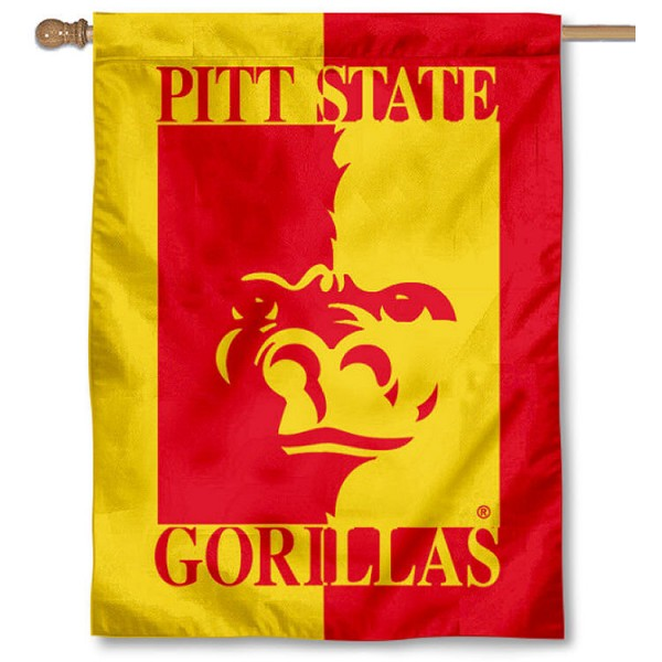 Pitt State PSU Gorillas House Flag is a vertical house flag which measures 30x40 inches, is made of 2 ply 100% polyester, offers dye sublimated NCAA team insignias, and has a top pole sleeve to hang vertically. Our Pitt State PSU Gorillas House Flag is officially licensed by the selected university and the NCAA.