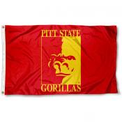 Pittsburg State Gorillas Crimson Flag