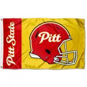 Pittsburg State Gorillas Football Helmet Flag