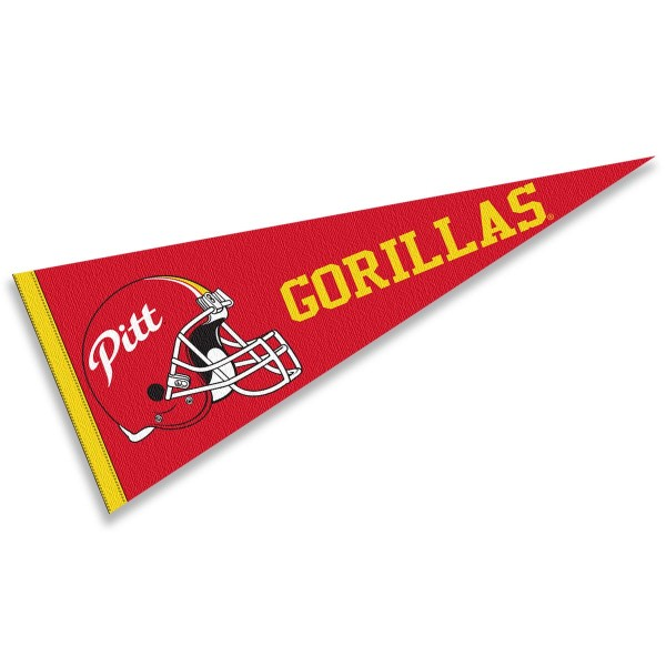 Pittsburg State Gorillas Helmet Pennant consists of our full size sports pennant which measures 12x30 inches, is constructed of felt, is single sided imprinted, and offers a pennant sleeve for insertion of a pennant stick, if desired. This Pittsburg State Gorillas Pennant Decorations is Officially Licensed by the selected university and the NCAA.