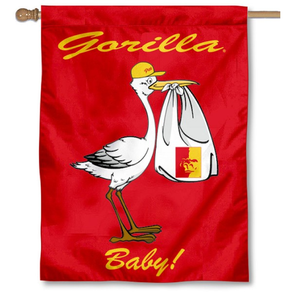 Pittsburg State Gorillas New Baby Flag measures 30x40 inches, is made of poly, has a top hanging sleeve, and offers dye sublimated Pittsburg State Gorillas logos. This Decorative Pittsburg State Gorillas New Baby House Flag is officially licensed by the NCAA.