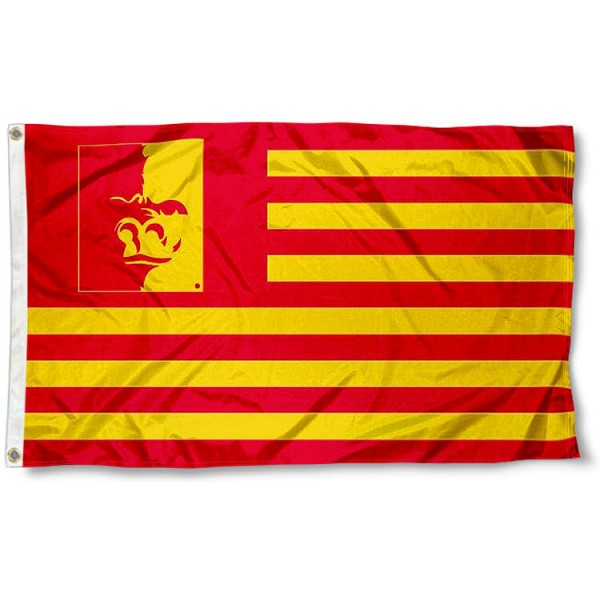 Pittsburg State Gorillas Stripes Flag measures 3'x5', is made of polyester, offers double stitched flyends for durability, has two metal grommets, and is viewable from both sides with a reverse image on the opposite side. Our Pittsburg State Gorillas Stripes Flag is officially licensed by the selected school university and the NCAA.