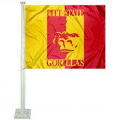 Pittsburg State University Car Flag