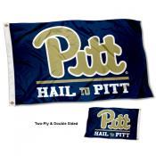 Pittsburgh Panthers HAIL TO PITT Double Sided Flag