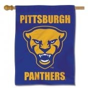 Pittsburgh Panthers Logo Double Sided House Flag