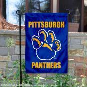 Pittsburgh Panthers Paw Logo Garden Flag