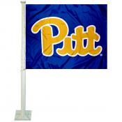Pittsburgh Panthers PITT Script Car Flag