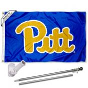 Pittsburgh Panthers Royal Blue Flag Pole and Bracket Kit