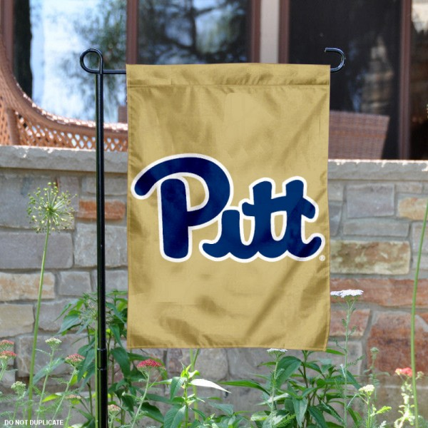 Pittsburgh Panthers Script Pitt Logo Garden Flag is 13x18 inches in size, is made of 2-layer polyester, screen printed logos and lettering. Available with Same Day Express Shipping, Our Pittsburgh Panthers Script Pitt Logo Garden Flag is officially licensed and approved by Panthers and the NCAA.