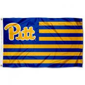Pittsburgh Panthers Stripes Flag