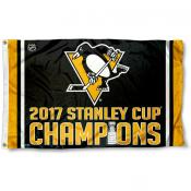 Pittsburgh Penguins 2017 Stanley Cup Champions Flag