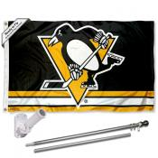 Pittsburgh Penguins Flag Pole and Bracket Kit