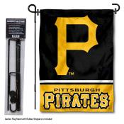 Pittsburgh Pirates Logo Garden Flag and Stand