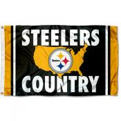 Pittsburgh Steelers Country Nation Flag