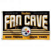 Pittsburgh Steelers Fan Cave Flag Large Banner