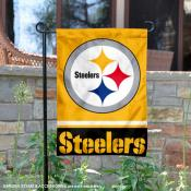 Pittsburgh Steelers Gold Logo Garden Flag