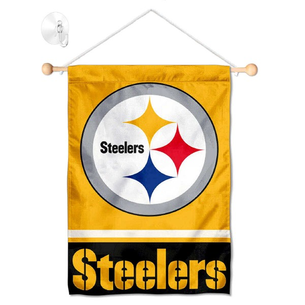 Pittsburgh Steelers Gold Window and Wall Banner