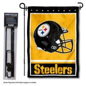 Pittsburgh Steelers Helmet Garden Banner and Flag Stand