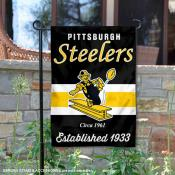 Pittsburgh Steelers Throwback Logo Double Sided Garden Flag Flag