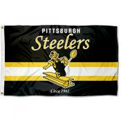 Pittsburgh Steelers Throwback Retro Vintage Logo Flag