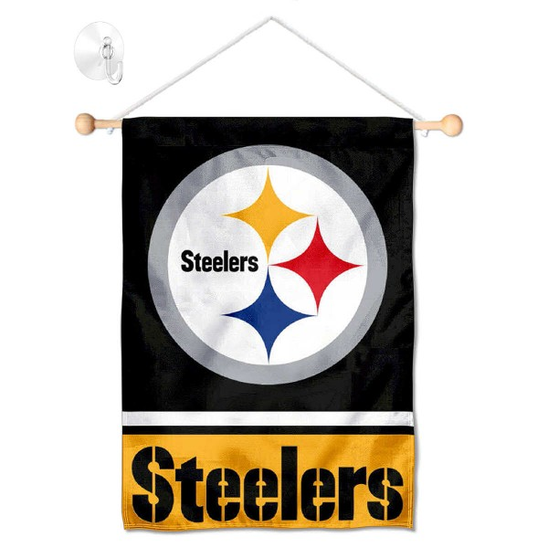 Pittsburgh Steelers Window and Wall Banner